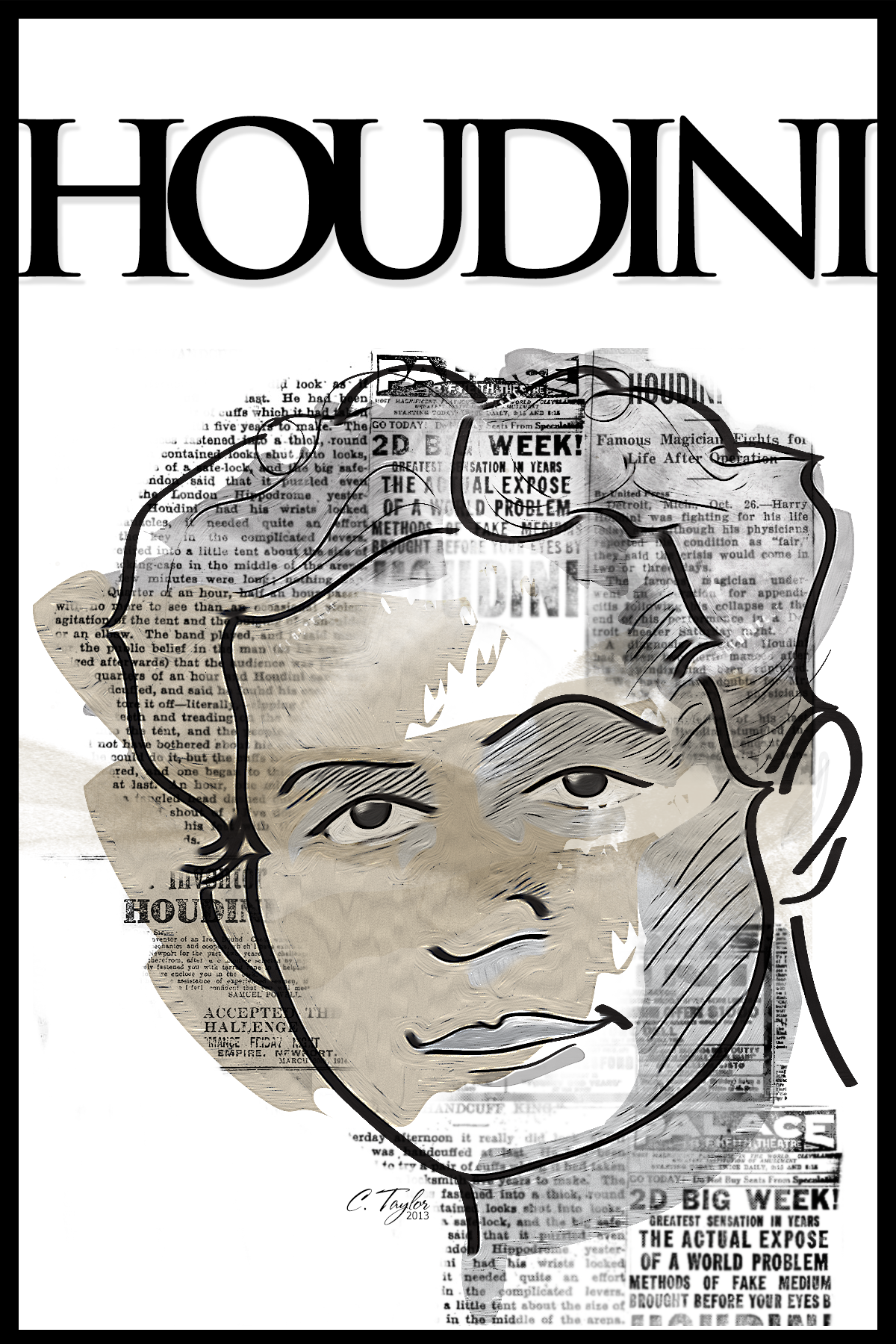 Harry Houdini Coloring Pages Kidsuki